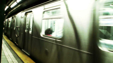 1016 New York Subway Stock Video Footage
