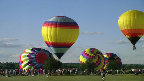 Hot Air Balloon Launch Stock Video Footage