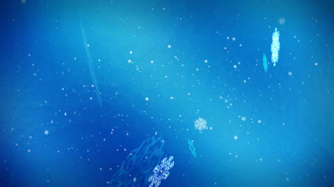 1052 Holiday Spirit Winter Snow Loop Animation