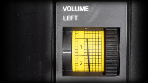 volume left00 Stock Video Footage