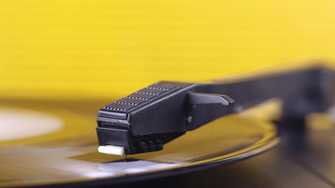 yellow vinyl00 Stock Video Footage
