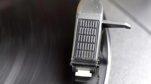 yellow vinyl02 Stock Video Footage