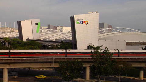 Very wide shot of Singapore Expo Footage