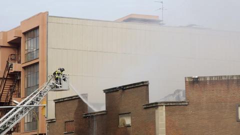 barcelona firemen02 Stock Video Footage