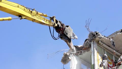 crane munching04 Stock Video Footage