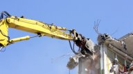 Crane Munching04 stock footage