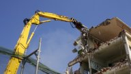 Crane Munching10 stock footage