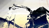 Crane Munching12 stock footage