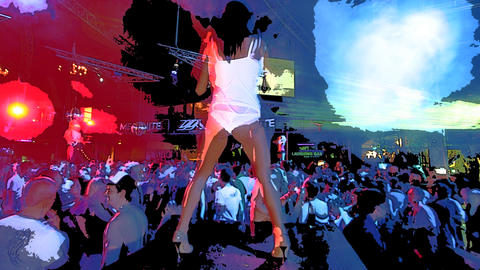 ibiza dancer02 Stock Video Footage