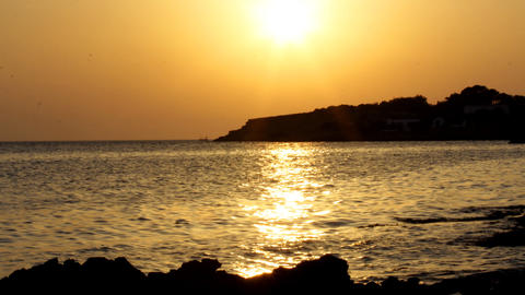 ibiza sunset02 Stock Video Footage