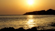Ibiza Sunset02 stock footage