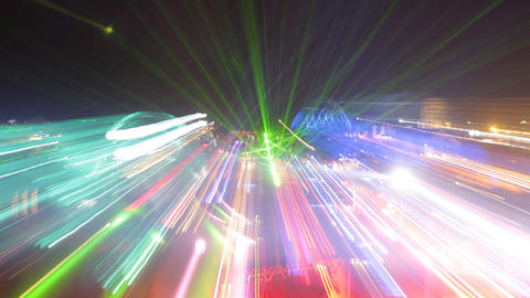 kazantip lights03 Stock Video Footage