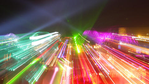 kazantip lights03 Stock Video Footage