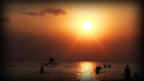 kazantip sunset0 Stock Video Footage