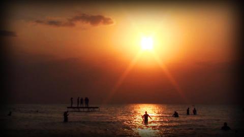 kazantip sunset0 Stock Video Footage