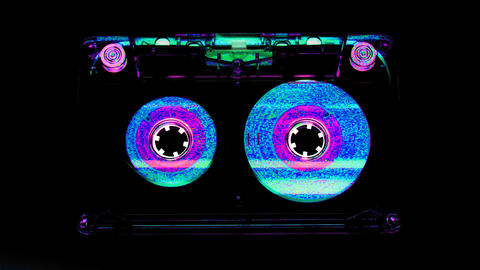 moving cassette05 Stock Video Footage