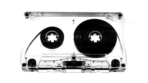 moving cassette07 Stock Video Footage