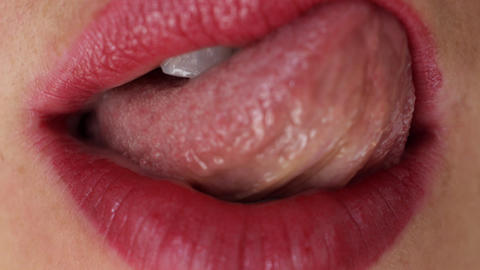 seanna lips1 Stock Video Footage