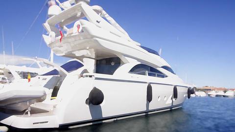 st tropez boat11 Stock Video Footage