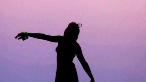 sunset dancer0 Stock Video Footage