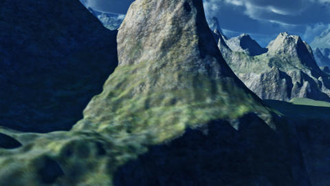 3d Mountain Flyover Animation