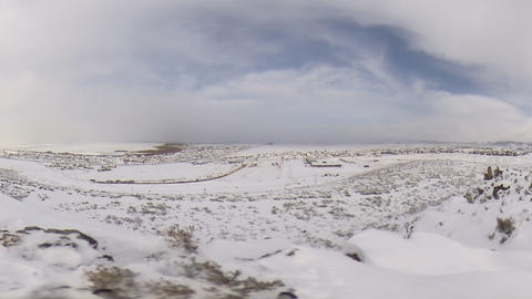 Moving Snowy Time Lapse Footage