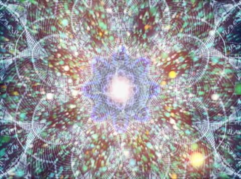 Mandala & Particles : VJ Loop 021 Stock Video Footage