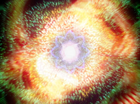Mandala & Particles : VJ Loop 021 Stock Video Footage