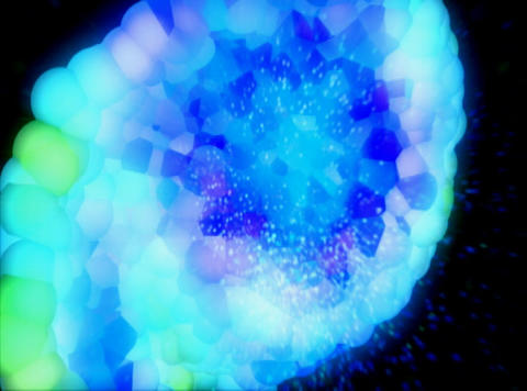 Blue Molecule : VJLoop 027 Stock Video Footage
