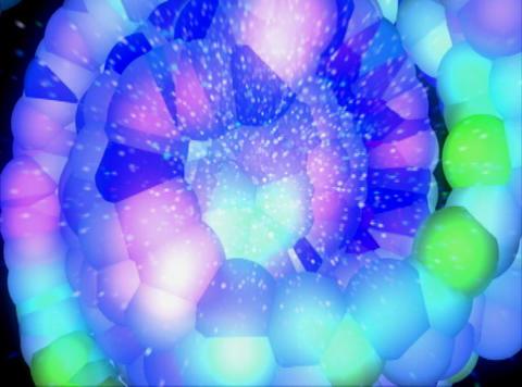 Blue Molecule : VJLoop 027 Stock Video Footage
