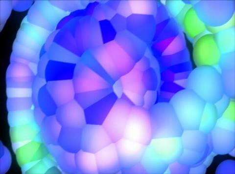 Blue Molecule Shake : VJ Loop 027C Stock Video Footage