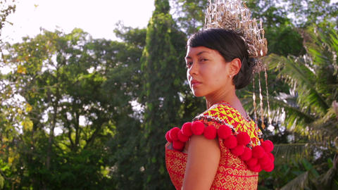 Iban tribal woman Footage