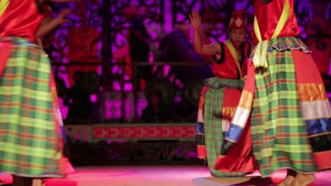 SARAWAK, MALAYSIA - JUNE 2012: Iban and Malay tribal performance Footage