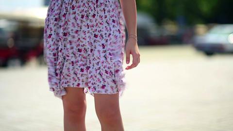 sexy woman legs in mini skirt Stock Video Footage