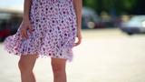 Sexy Woman Legs In Mini Skirt stock footage
