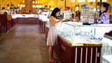 Asian Girl Shopping Central Market stock footage