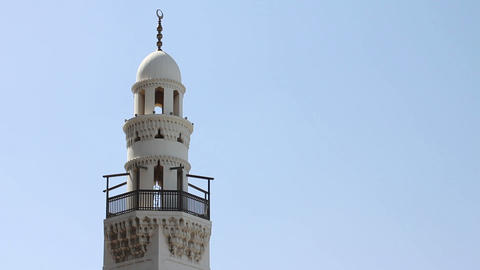 minaret of Bahrain mosque Stock Video Footage