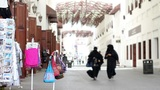 Arabic street market in bahrain Stock Video Footage