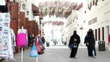 Arabic street market in bahrain Footage