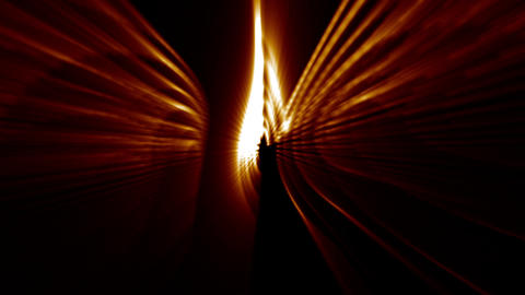 Abstract golden lights Stock Video Footage