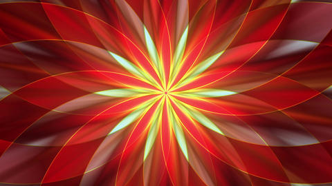 Abstract flower design Stock Video Footage