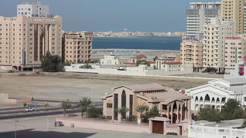 BAHRAIN - MARCH 2012: ordinary bahrain streets Stock Video Footage