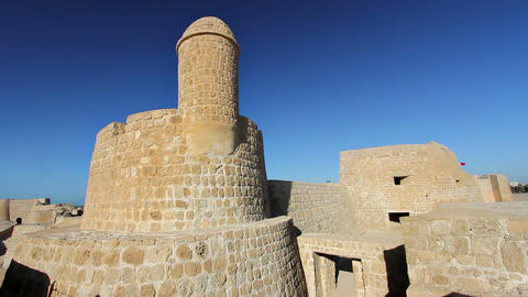 Qal'at al-Bahrain fort Stock Video Footage