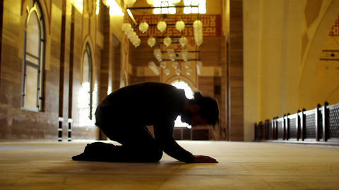 namaz: muslim worship in mosque Footage