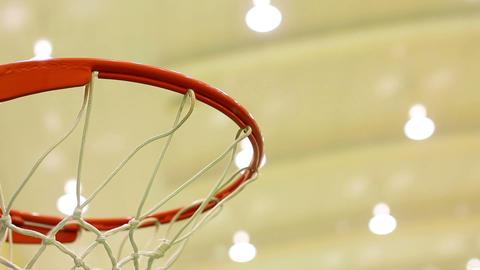 scoring basket in basketball court Stock Video Footage