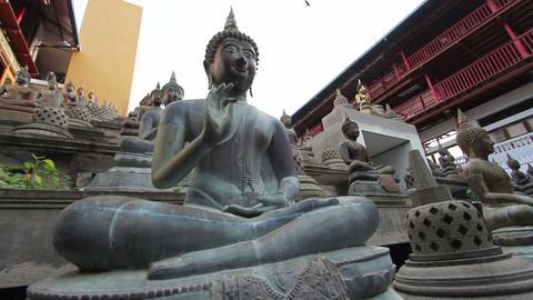 Sri Lanka buddhist temple Stock Video Footage