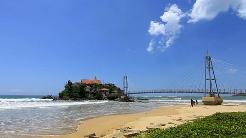exotic matara beach, sri lanka Stock Video Footage