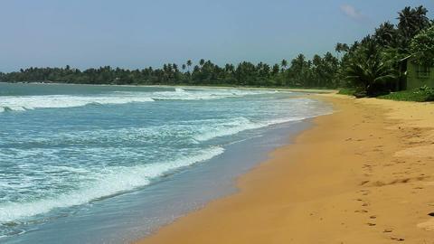 exotic matara beach, sri lanka Footage