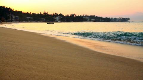 exotic unawatuna beach, sri lanka Stock Video Footage