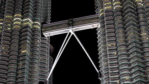 petronas twin tower, kuala lumpur Footage